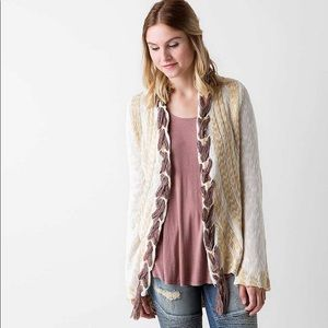 Gimmicks by BKE Braided Long Cardigan Sweater L